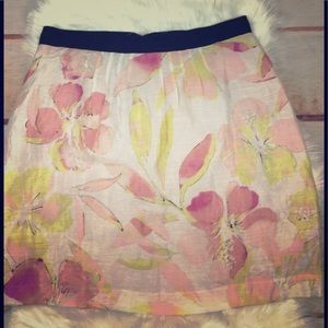 Loft Light Floral Skirt